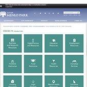 Menlo Park website COVID-19 resources