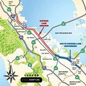 Caltrans US 101 Express Lanes project map
