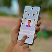 contact tracing app on mobile phone