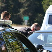 police officers make a vehicle traffic stop