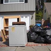 bulky item refuse sitting curbside