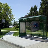 New bus shelter installed on Willow Road