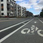 New bike lanes on Haven Avenue and Constitution Drive