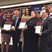 Police staff honored with Lions Clubs' police service award