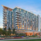 Construction of the Menlo Gateway hotel reaches a milestone
