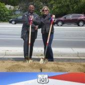 Willow-101 interchange groundbreaking ceremony