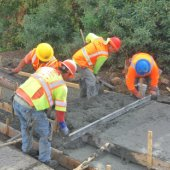 Santa Cruz sidewalks are almost done!