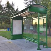 New Bus Shelter Installed in Belle Haven Neighborhood
