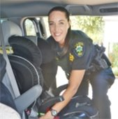 Police host a child safety seat installation and inspection event