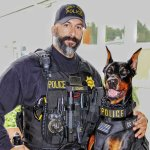 """Police narcotic detection dog """"Duke"""" recipient of canine excellence award"""