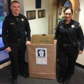 Police explorers extend thanks for coat drive contributions