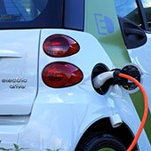 electric vehicle plugged in charging