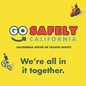 Go Safely California OTS pedestrian safety campaign logo