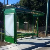New bus shelter coming to westbound Willow Road at Hamilton Avenue