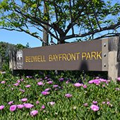 Bedwell Bayfront Park sign