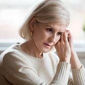 senior woman appearing worried