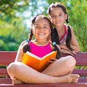 children reading summer learning challenge