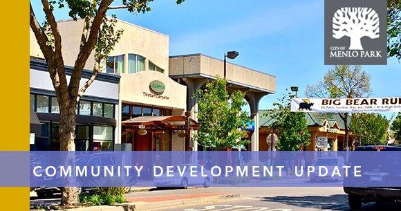 downtown business banner reads community development update
