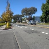 New bike lanes completed on Jefferson Drive and Chrysler Drive near TIDE Academy