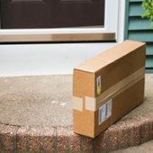 package sitting on doorstep
