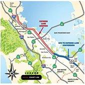 caltrans 101 express lanes project map