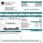 water billing sample