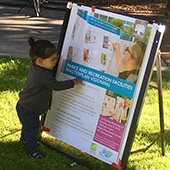 Child Parks and Recreation master plan poster