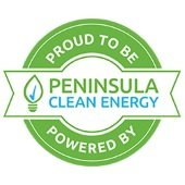 Logo - Proud to be powered by Peninsula Clean Energy