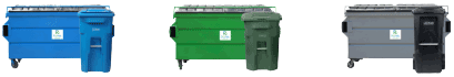 Solid waste and recycling bins and carts
