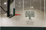 Arrillaga Family Gymnasium, basketball hoop, City of Menlo Park