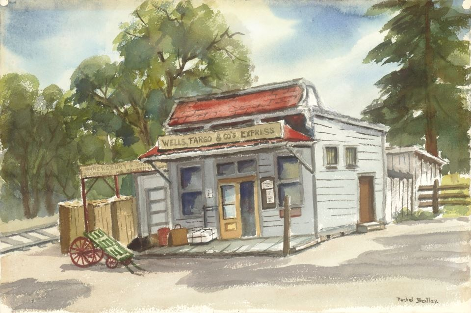 Rachel Bentley Watercolor: Wells Fargo Co Express
