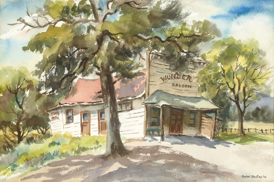 Rachel Bentley Watercolor: Wunder Saloon